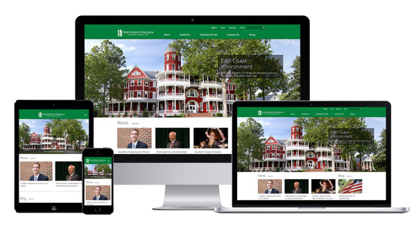 Website for Southern Virginia University